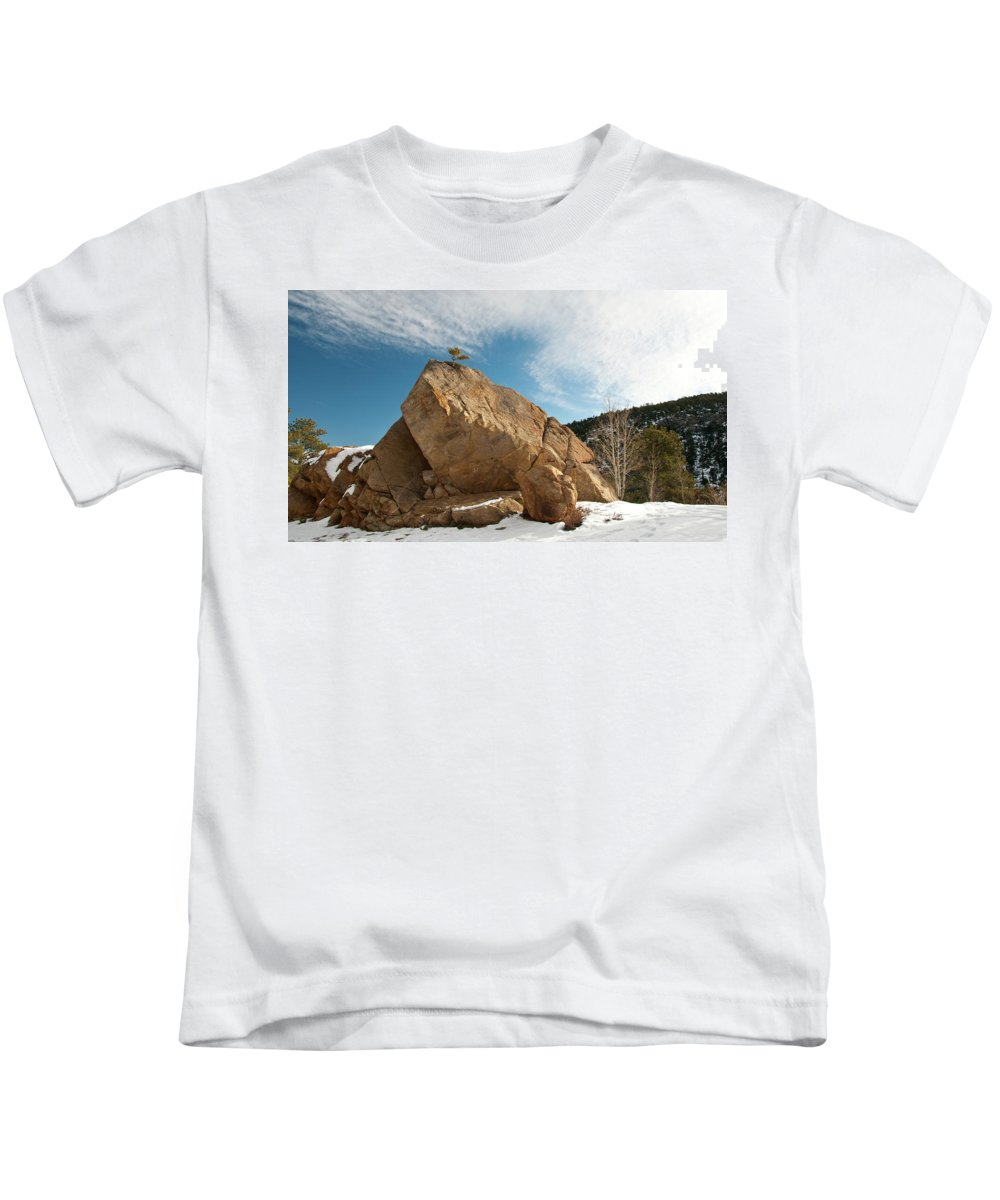 Guy Whiteley Photography Kids T-Shirt featuring the photograph Defiant by Guy Whiteley