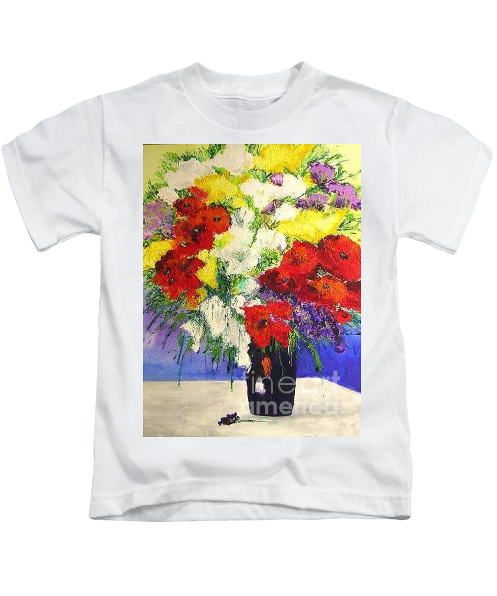 Landscape Kids T-Shirt featuring the painting Delightful by Allan P Friedlander