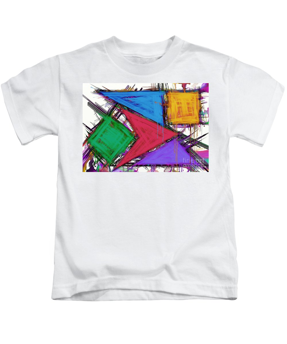 Triangles Kids T-Shirt featuring the digital art Disruptor by Keith Mills