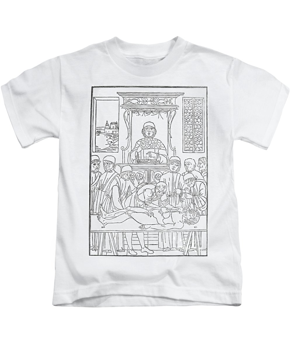 1493 Kids T-Shirt featuring the photograph Dissection Lesson, 1493 by Granger