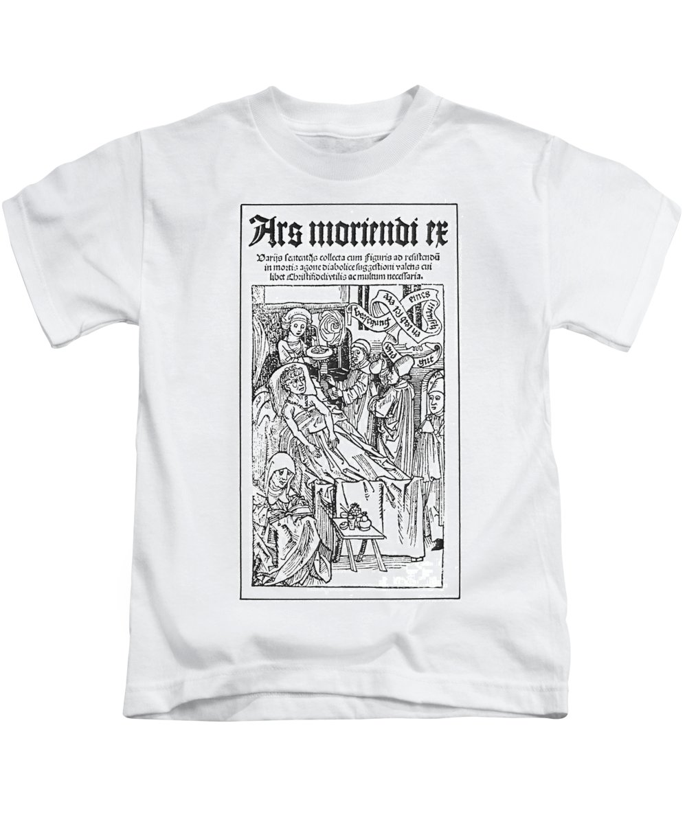 1509 Kids T-Shirt featuring the photograph Doctor And Patient, 1509 by Granger