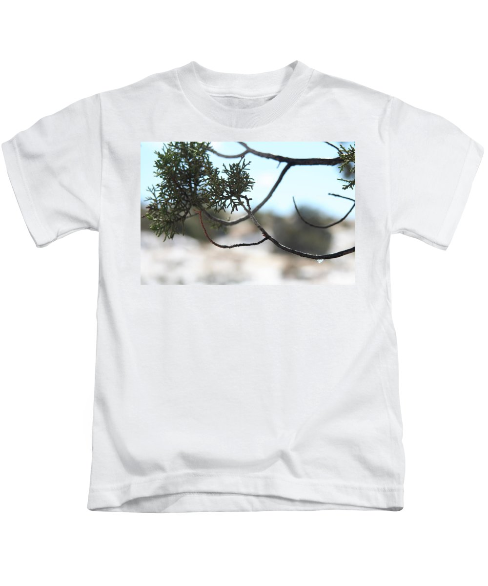 Snow Kids T-Shirt featuring the photograph Drop by David S Reynolds