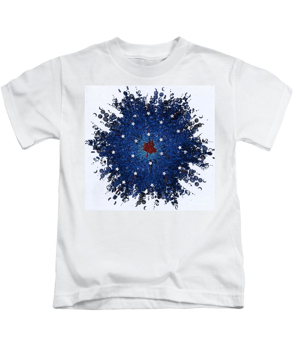 First Star Art By Jrr And Jammer Kids T-Shirt featuring the mixed media Dual Citizenship 1 by First Star Art