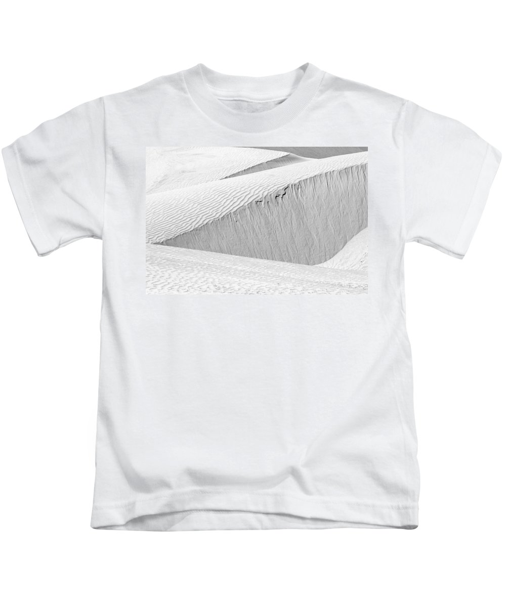 Abstract Kids T-Shirt featuring the photograph Dune Abstract, Paryang, 2011 by Hitendra SINKAR