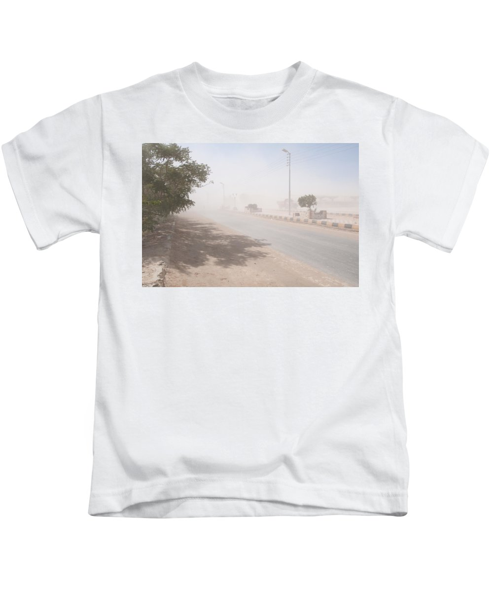 Egypt Kids T-Shirt featuring the digital art Dust Storm by Carol Ailles