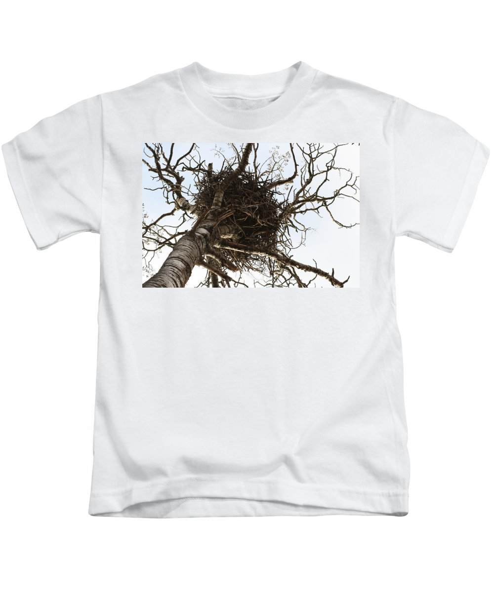 Eagle Kids T-Shirt featuring the photograph Eagle Nest by Chris Artist
