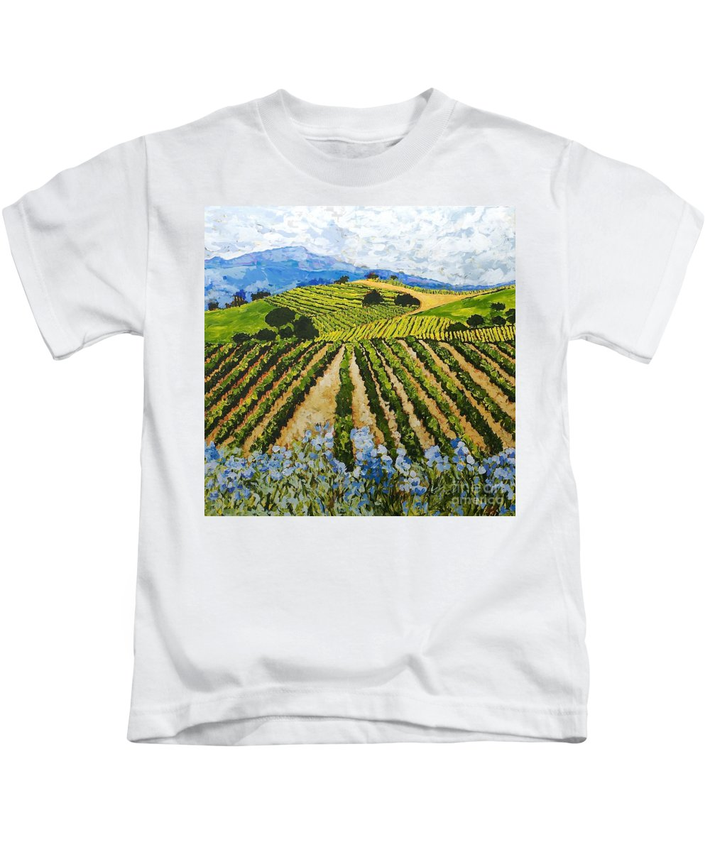 Landscape Kids T-Shirt featuring the painting Early Crop by Allan P Friedlander