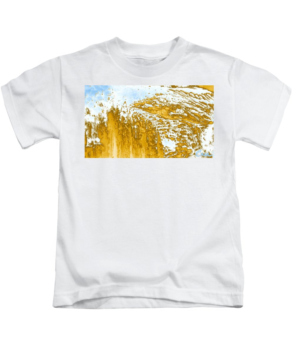 Earth Kids T-Shirt featuring the photograph Earth And Space One Hill by Feile Case