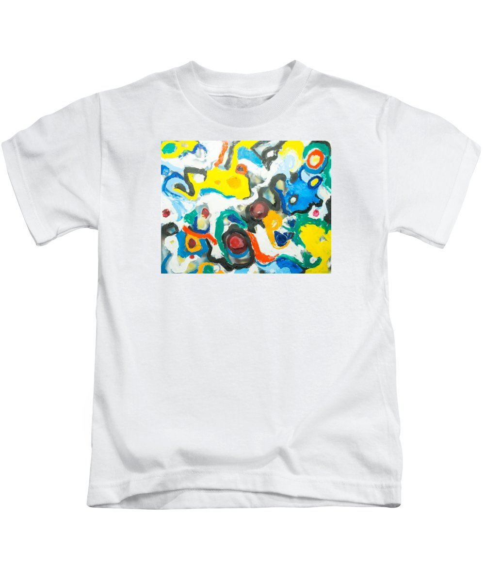 Abstract Art; Abstract Design; Kids T-Shirt featuring the painting Ecstasy 2 by Suresh Pitamber