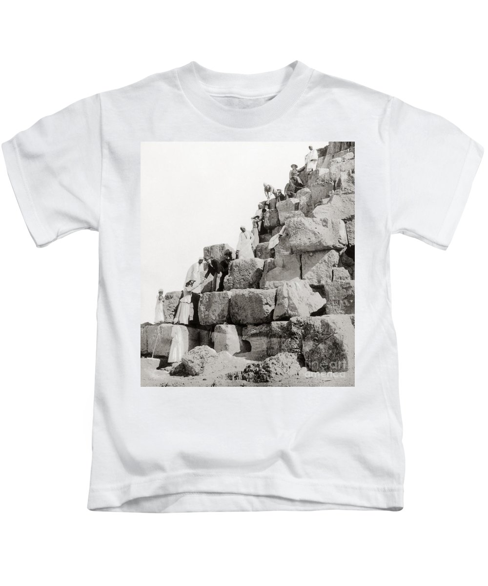 1890s Kids T-Shirt featuring the photograph Egypt C1890 by Granger