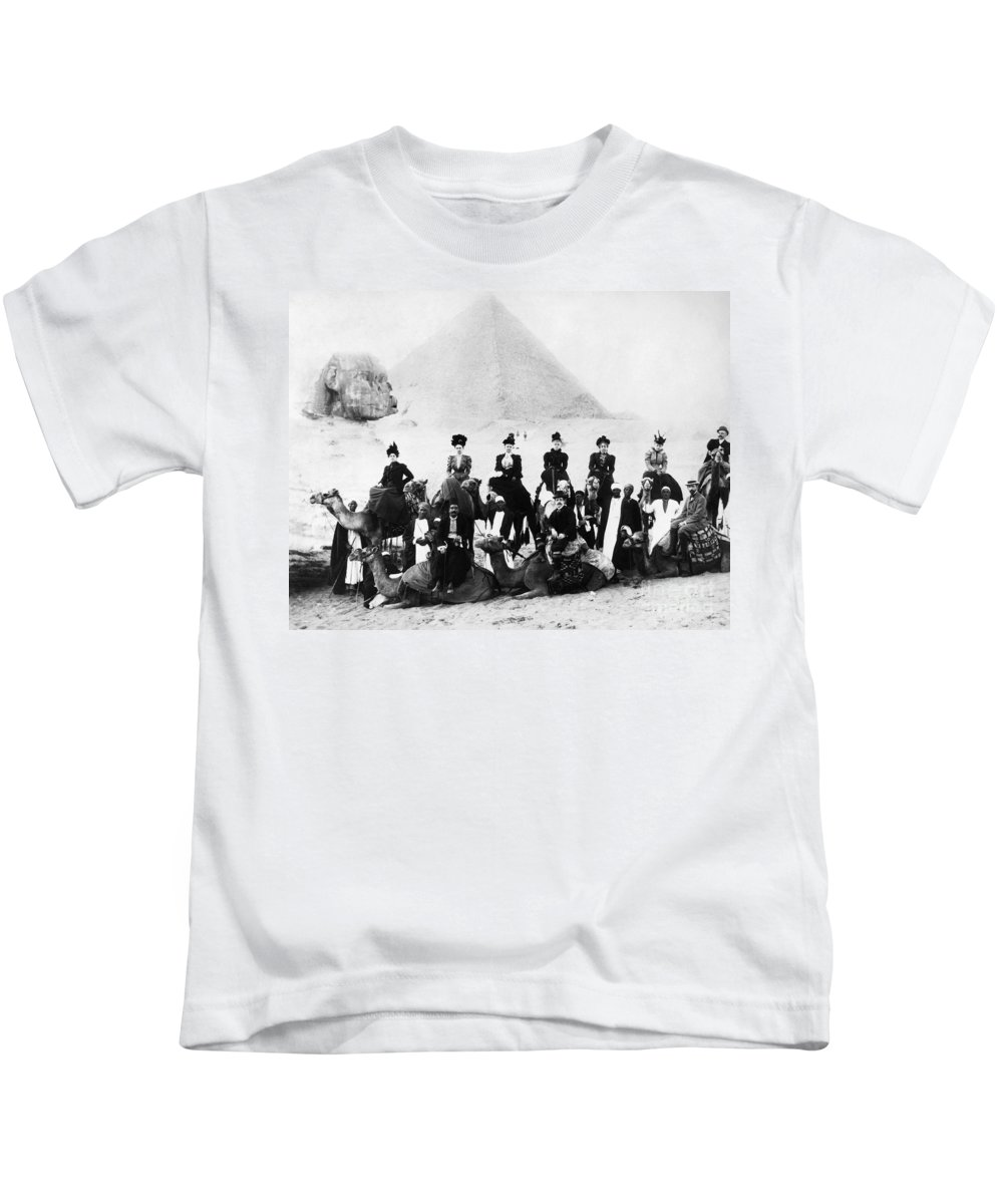1890s Kids T-Shirt featuring the photograph Egypt C1895 by Granger