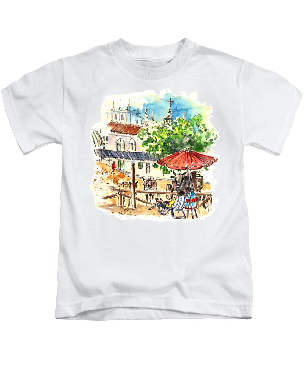 Travel Kids T-Shirt featuring the painting El Rocio 01 by Miki De Goodaboom