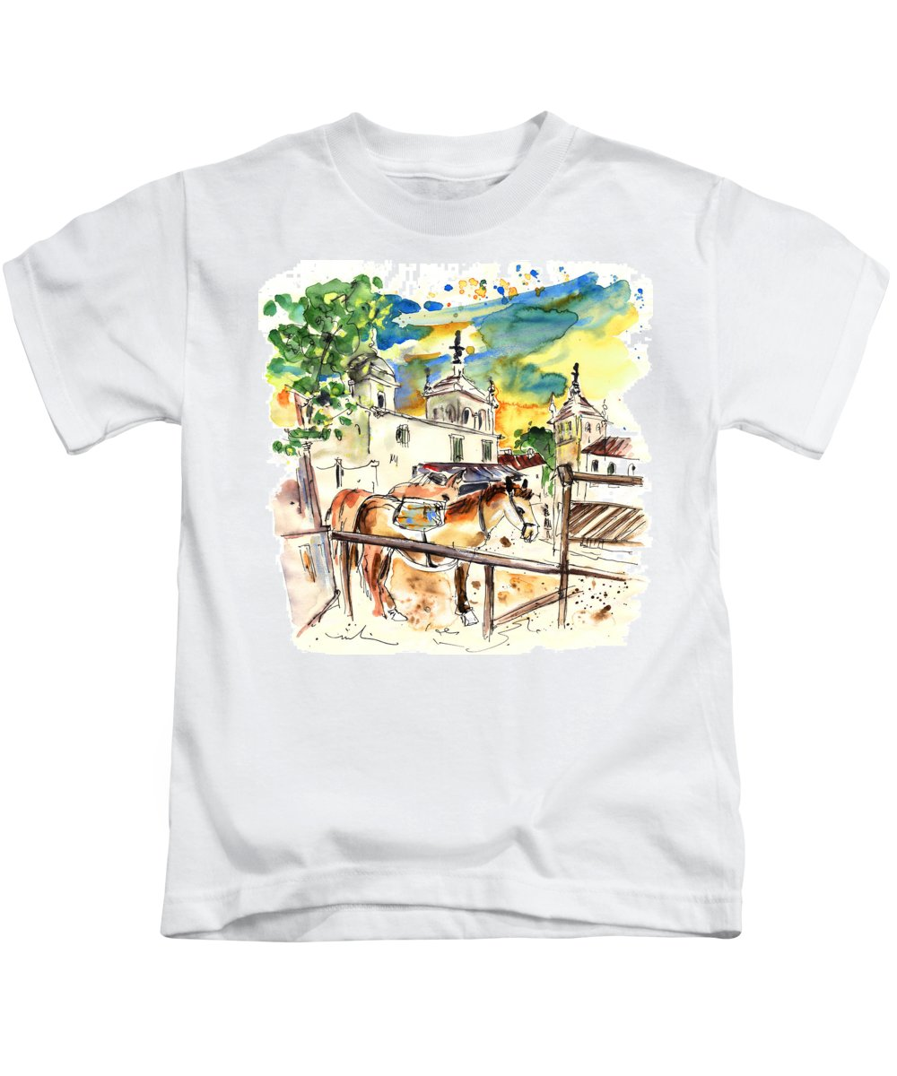 Travel Kids T-Shirt featuring the painting El Rocio 02 by Miki De Goodaboom