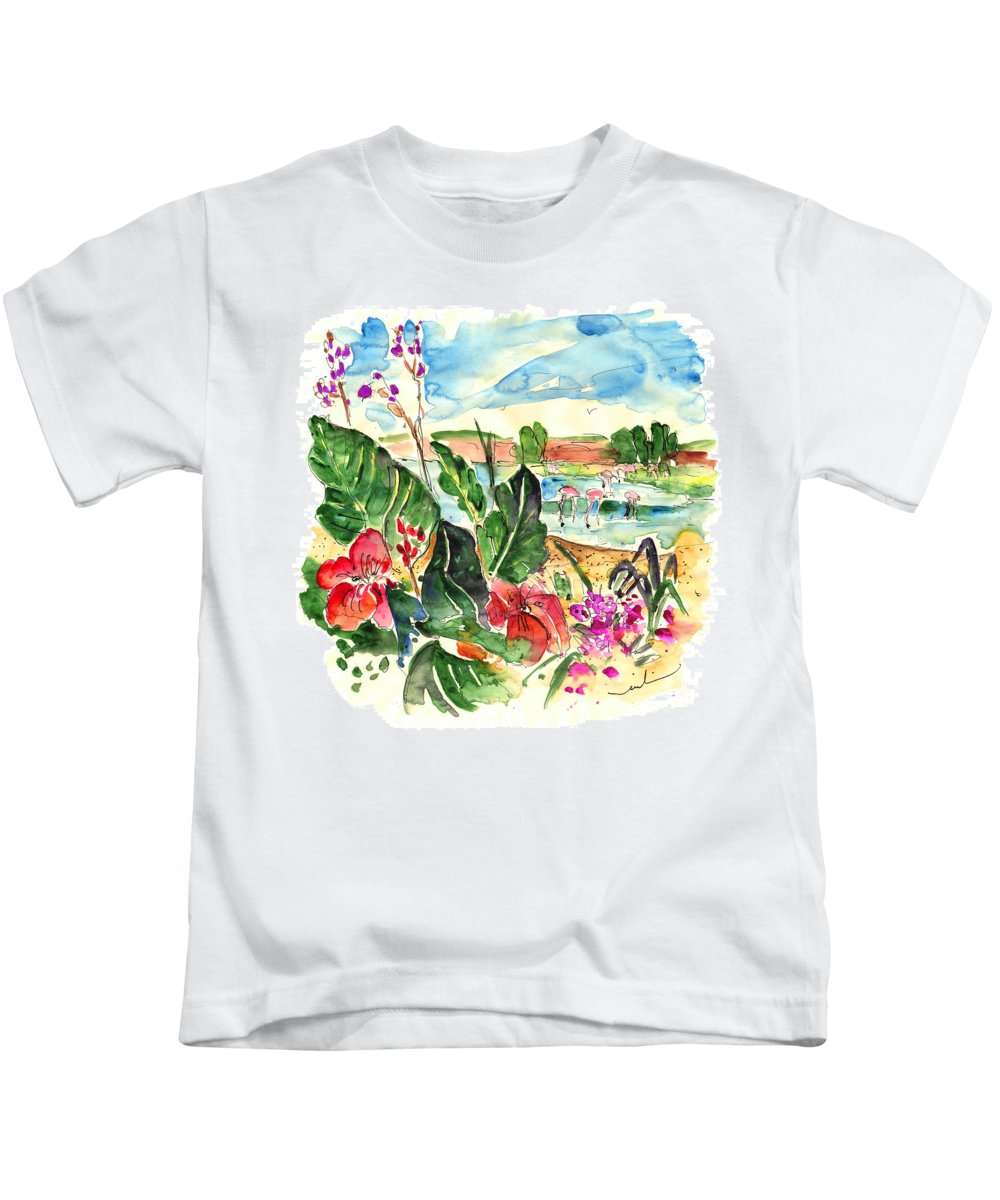 Travel Kids T-Shirt featuring the painting El Rocio 06 by Miki De Goodaboom