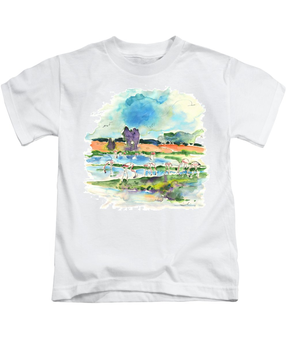 Travel Kids T-Shirt featuring the painting El Rocio 08 by Miki De Goodaboom
