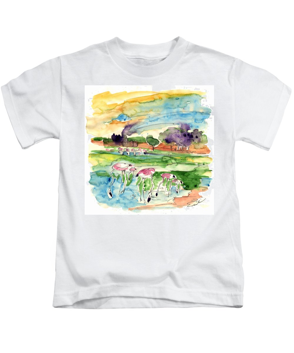 Travel Kids T-Shirt featuring the painting El Rocio 09 by Miki De Goodaboom