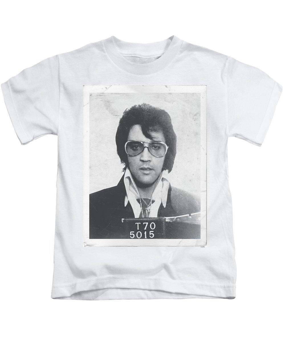 Elvis Kids T-Shirt featuring the digital art Elvis - Framed by Brand A