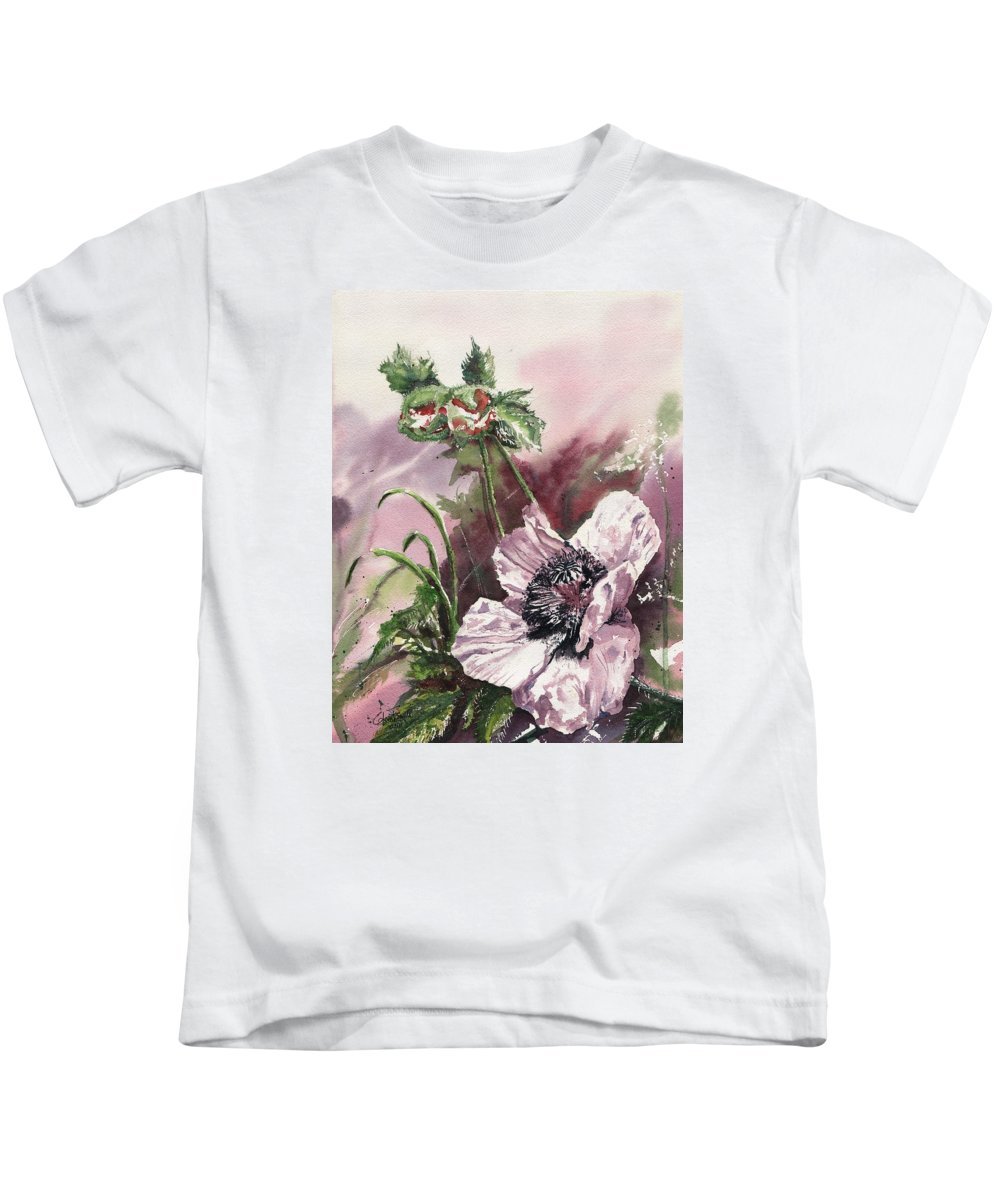 Poppy Kids T-Shirt featuring the painting Envious by Glenn Farrell