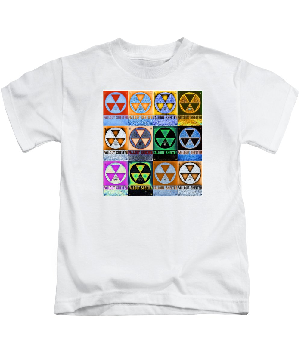 Fallout Kids T-Shirt featuring the photograph Fallout Shelter Mosaic by Stephen Stookey