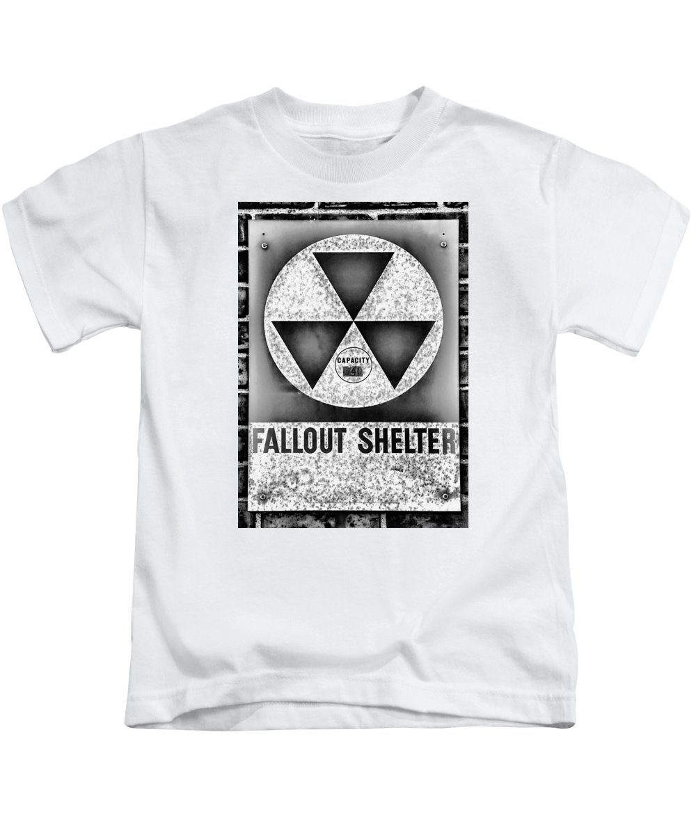 Fallout Kids T-Shirt featuring the photograph Fallout Shelter Wall 10 by Stephen Stookey