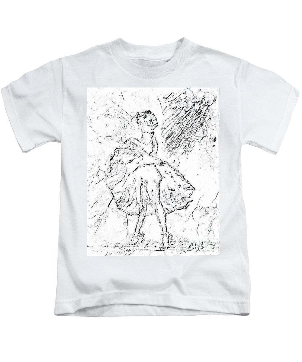 Marilyn Kids T-Shirt featuring the painting Fantasy by Alys Caviness-Gober
