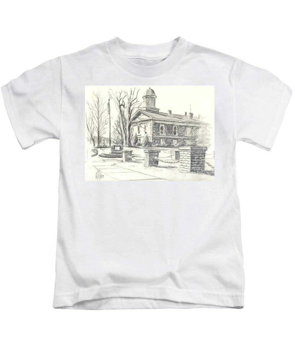 February Morning No Ctc102 Kids T-Shirt featuring the drawing February Morning No Ctc102 by Kip DeVore