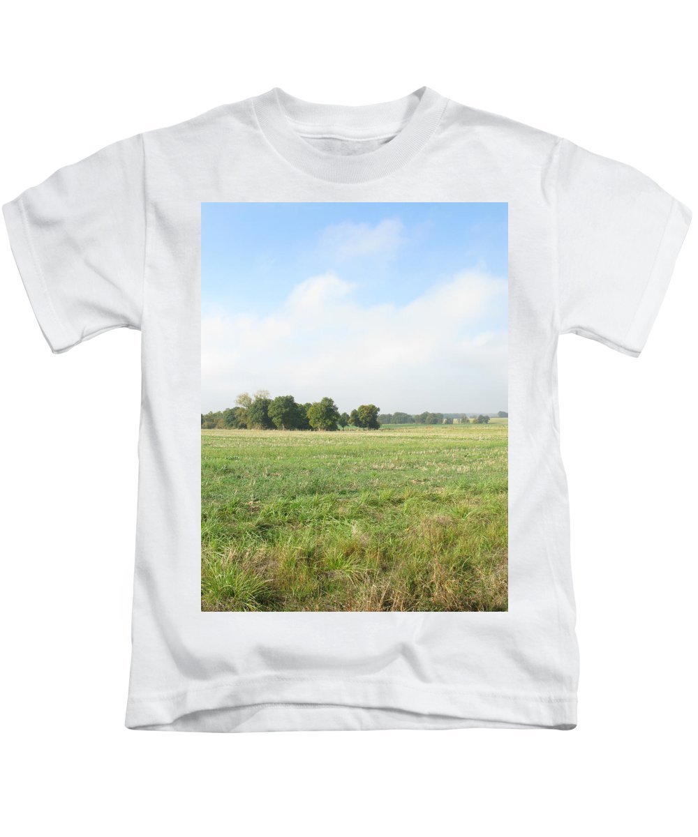 French Farm Kids T-Shirt featuring the photograph Field In France by Randi Kuhne