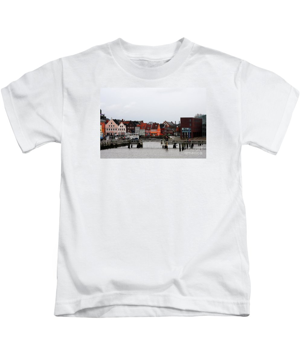 Husum Kids T-Shirt featuring the photograph Fishing Port Husum by Christiane Schulze Art And Photography