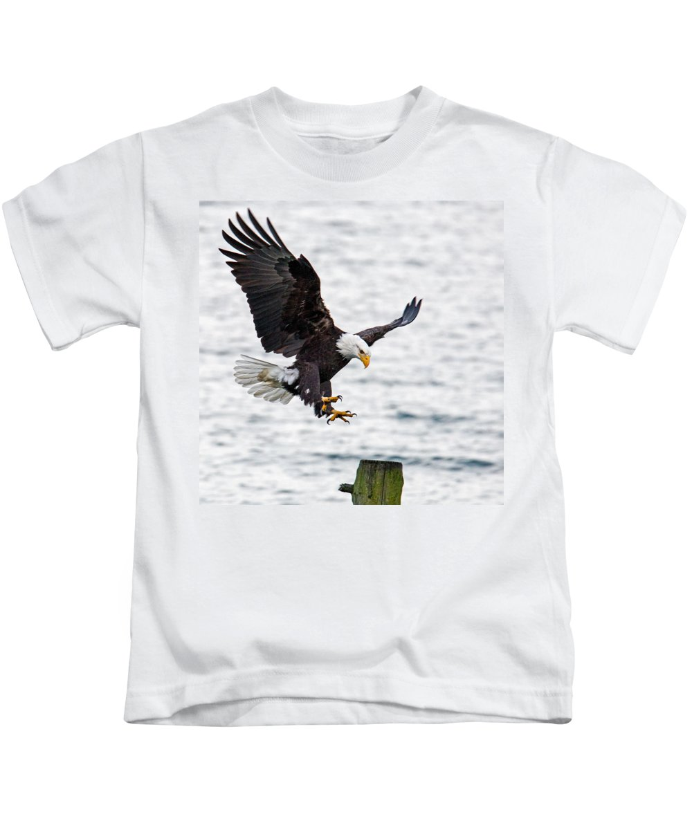 Eagle Kids T-Shirt featuring the photograph Flaps Down... Gear Down by Randy Hall