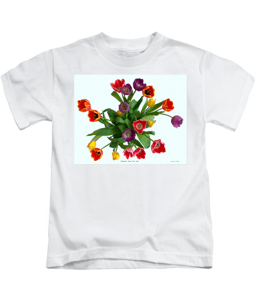 Flowers Kids T-Shirt featuring the photograph Flowers Just For You by Carl Deaville