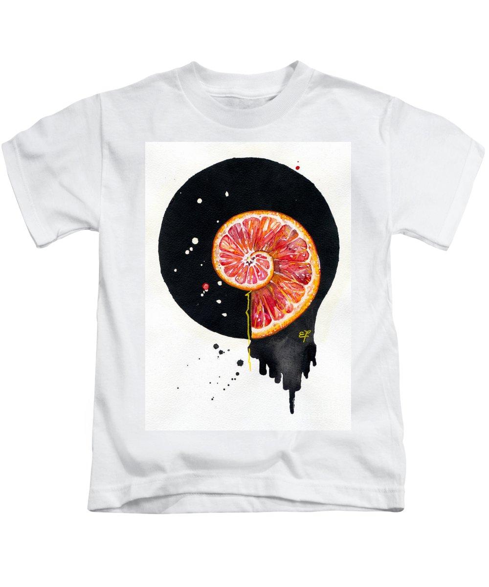 Yakubovich Kids T-Shirt featuring the painting Fluidity 13 - Elena Yakubovich by Elena Yakubovich