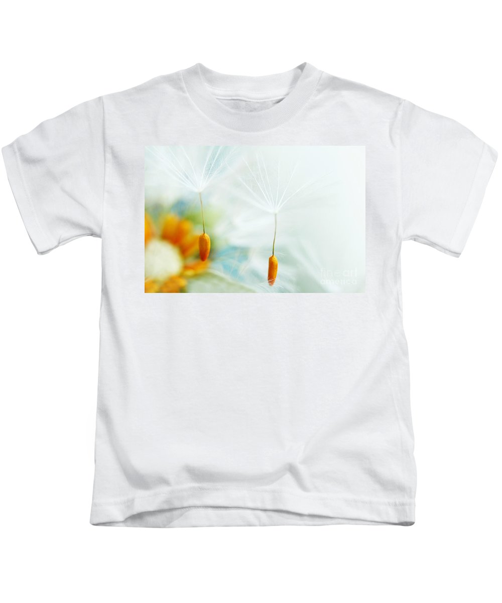 Dandelion Kids T-Shirt featuring the photograph Fly Away by Onelia PGPhotography