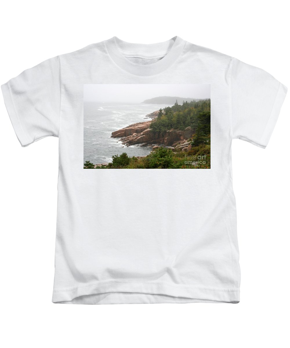 Sea Kids T-Shirt featuring the photograph Fog Over The Sea by Christiane Schulze Art And Photography