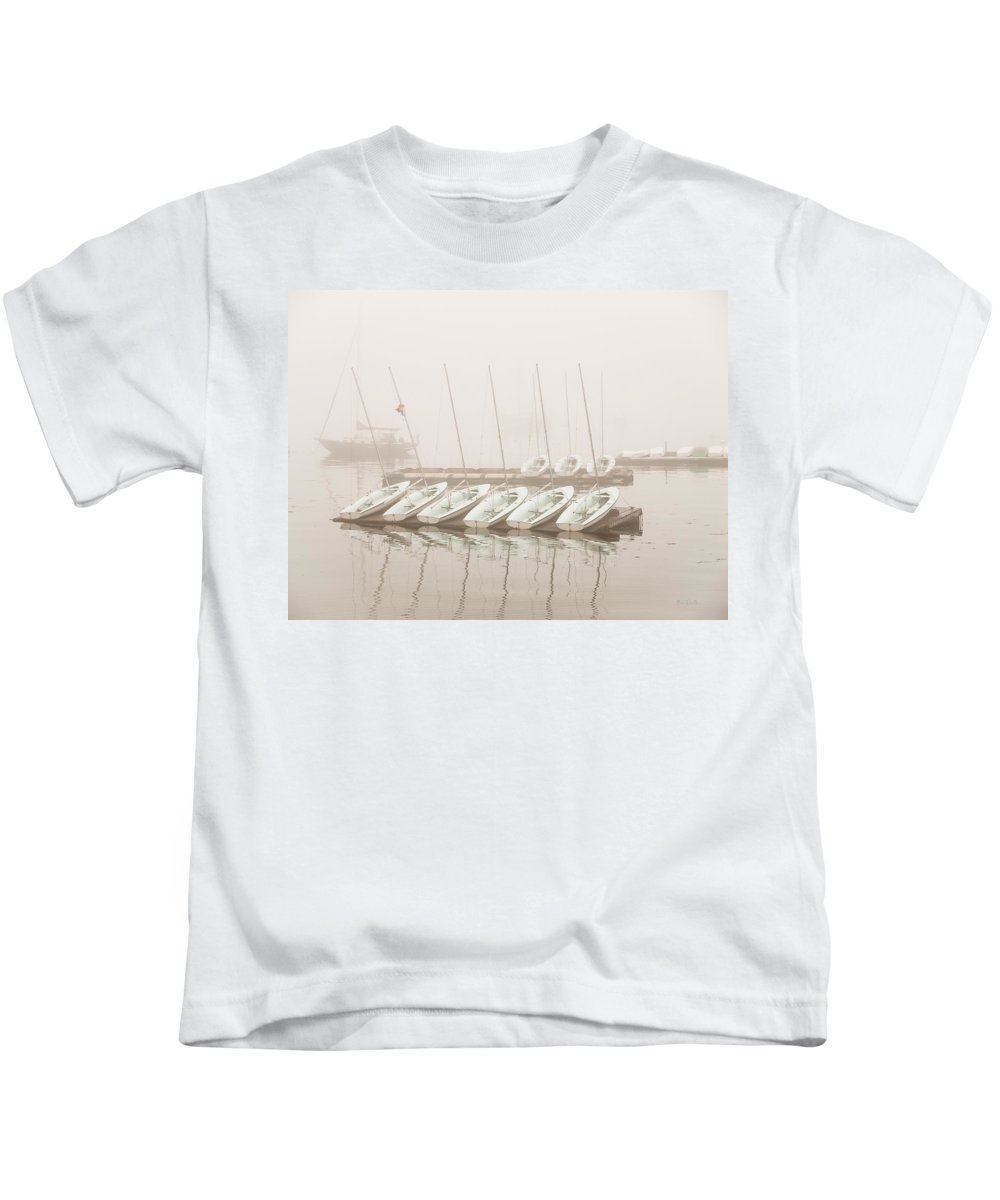 Seascape Kids T-Shirt featuring the photograph Fogged In Again by Bob Orsillo