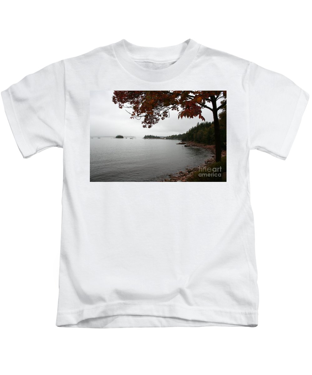 Fog Kids T-Shirt featuring the photograph Foggy Autumn Day by Christiane Schulze Art And Photography