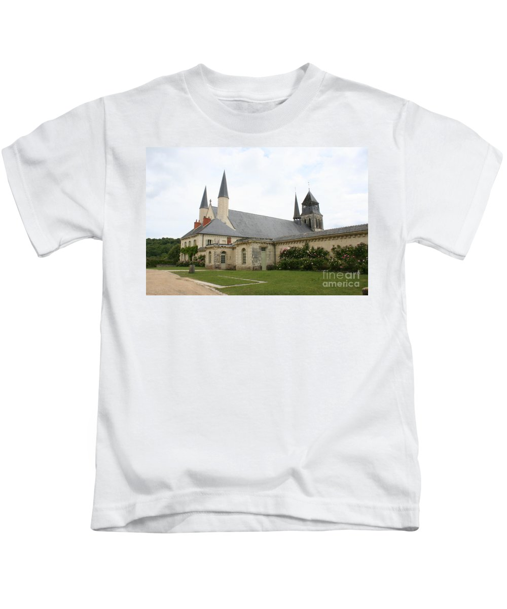 Cloister Kids T-Shirt featuring the photograph Fontevraud Abbey - France by Christiane Schulze Art And Photography