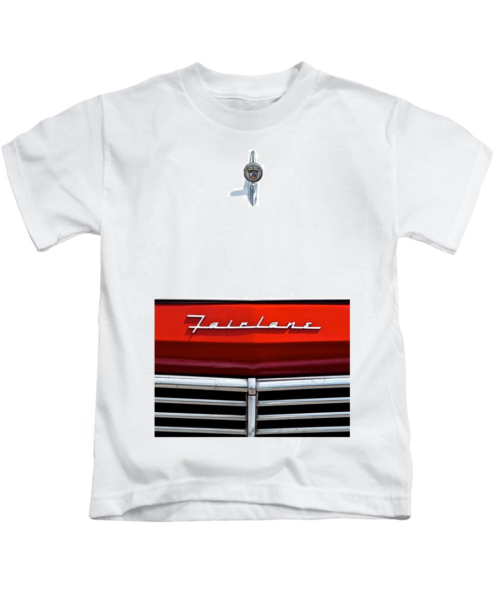 Ford Kids T-Shirt featuring the photograph Ford Fairlane by Frozen in Time Fine Art Photography