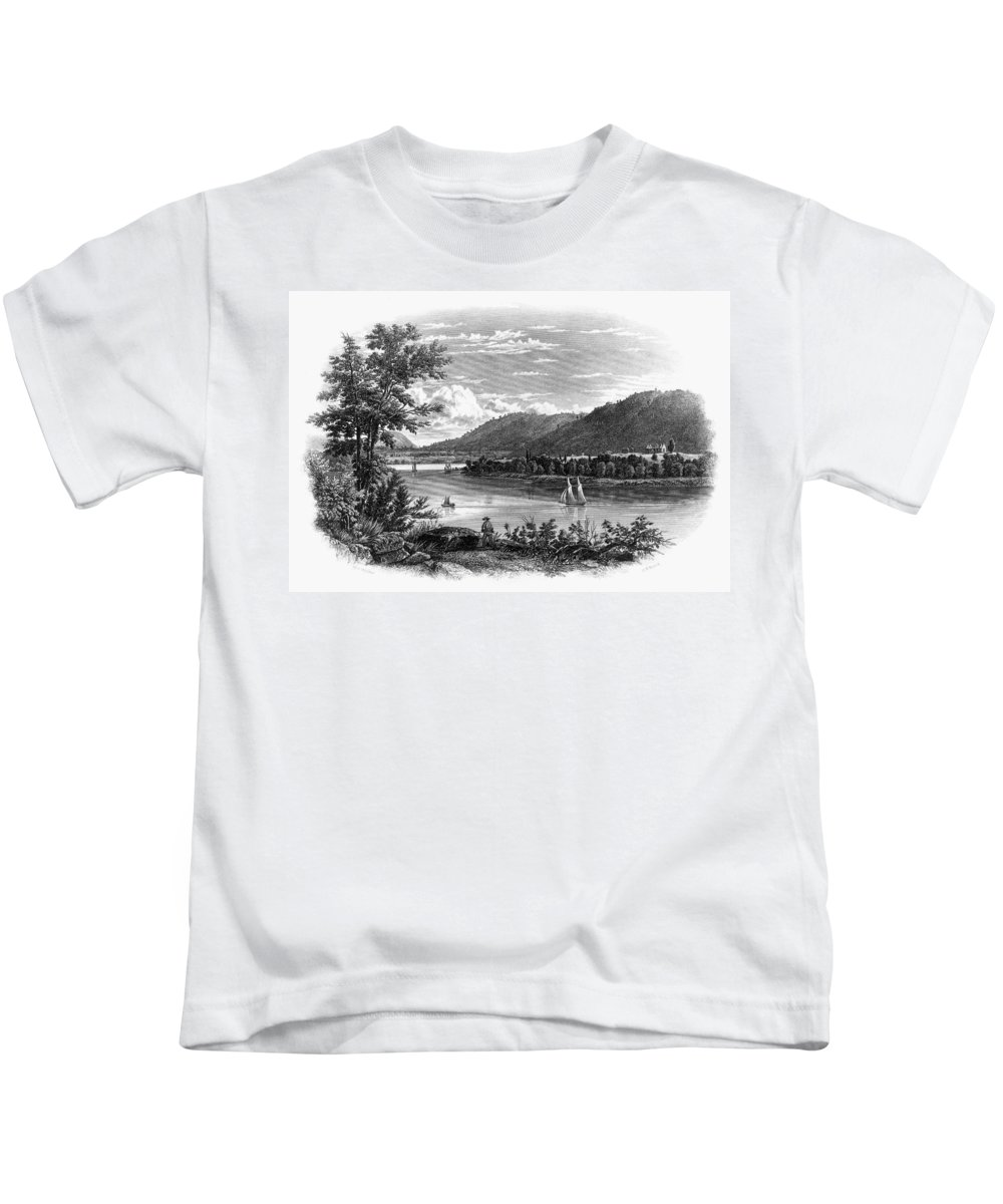 1847 Kids T-Shirt featuring the painting Fort Ticonderoga Ruins by Granger