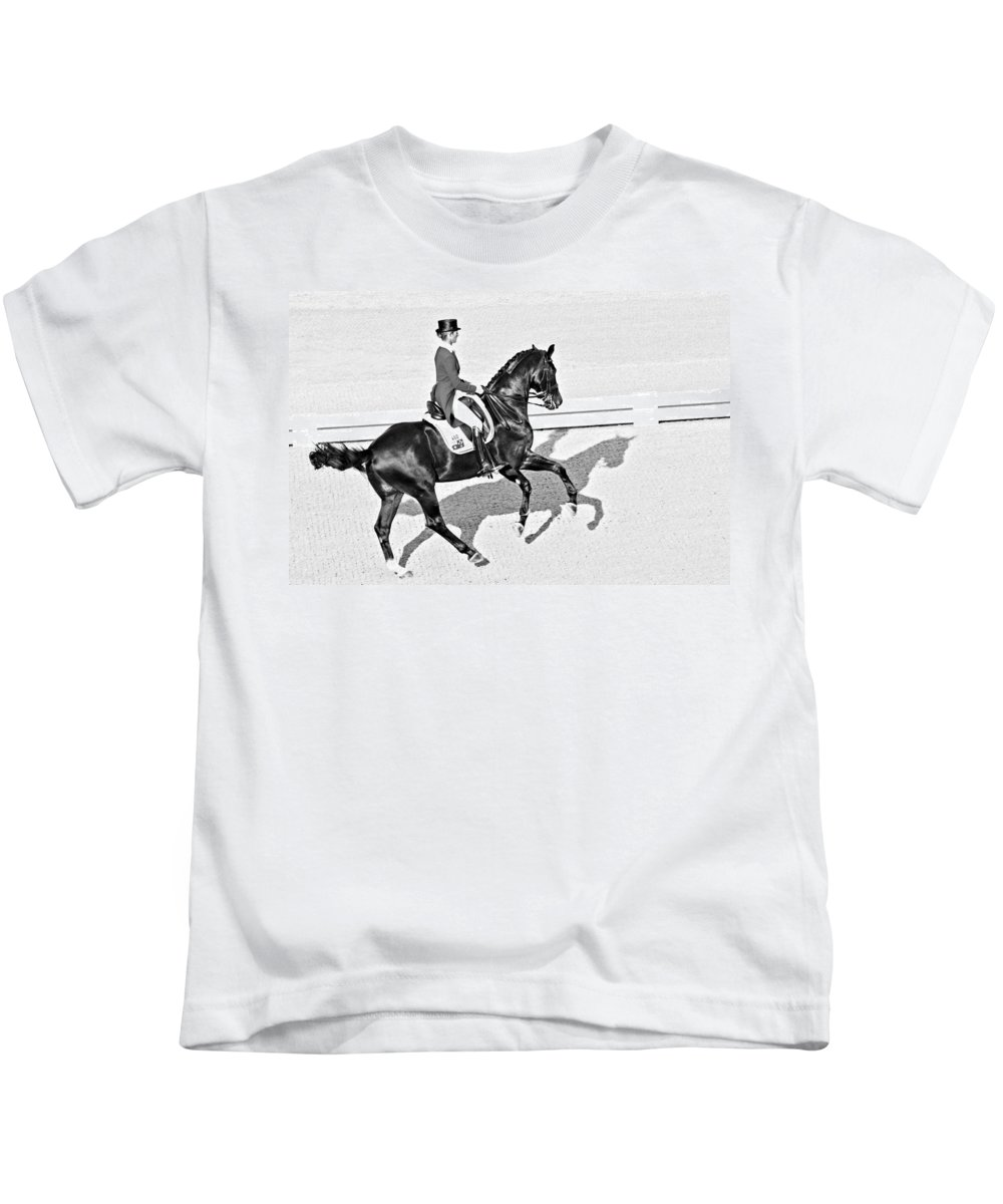 Horse Kids T-Shirt featuring the photograph Fourosix by Alice Gipson