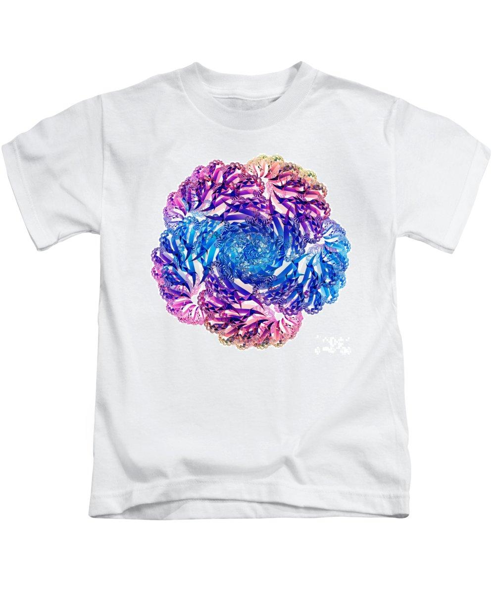 Fractal Kids T-Shirt featuring the digital art Fractal 5 by Steve Purnell