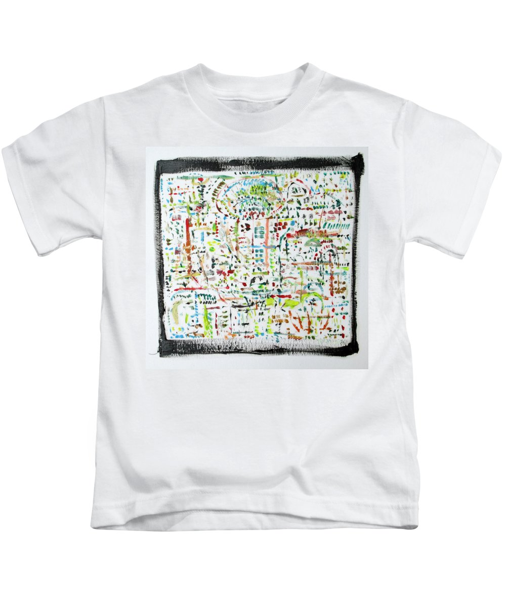 Density Kids T-Shirt featuring the painting Framed Density by Fabrizio Cassetta