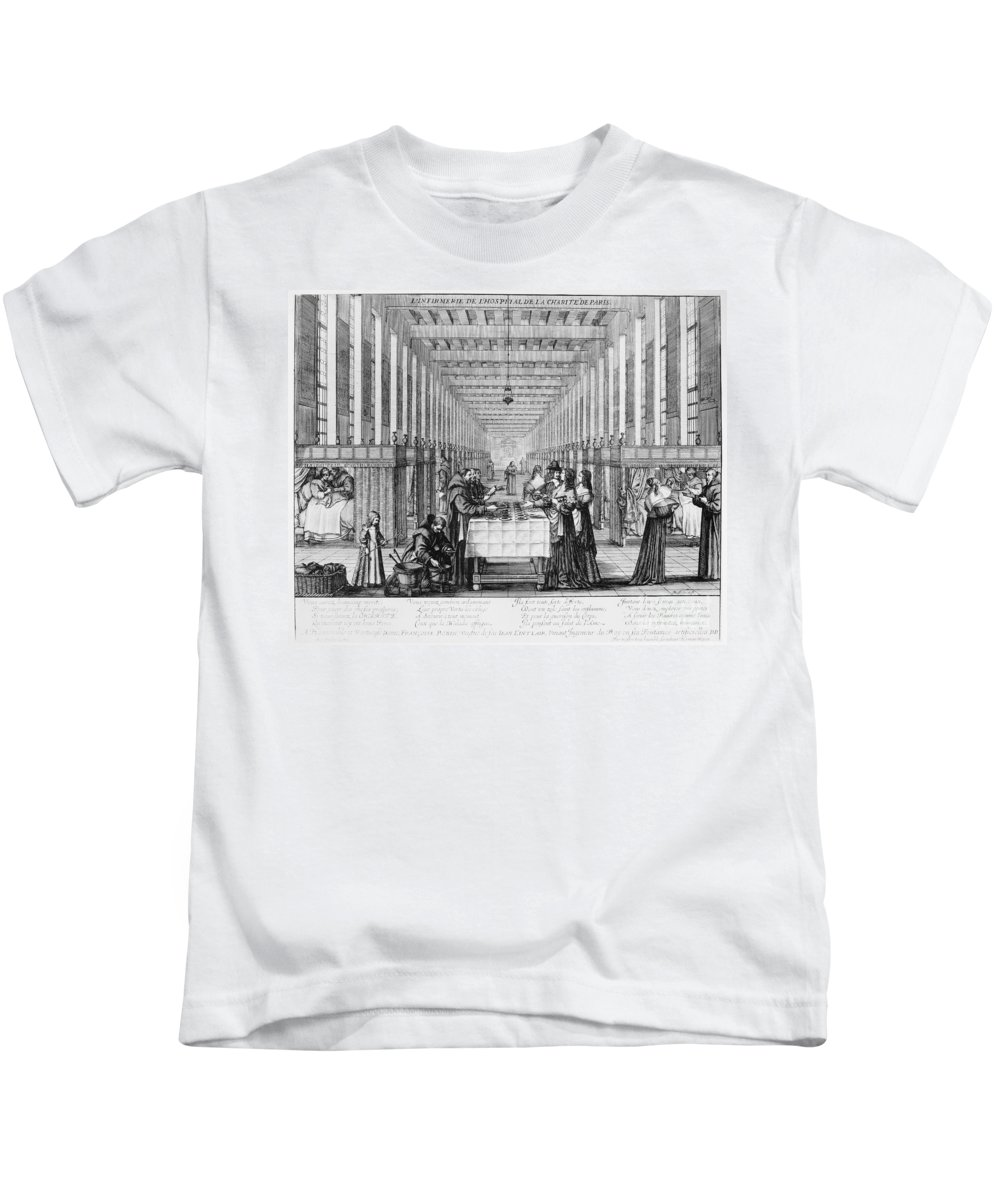 1635 Kids T-Shirt featuring the photograph France: Hospital, C1635 by Granger