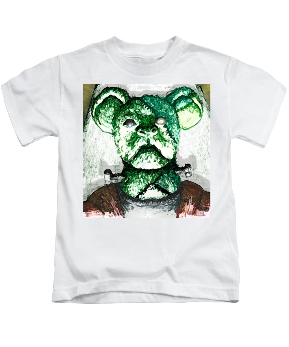 Undead Kids T-Shirt featuring the drawing Frankenstein's Koala by Del Gaizo