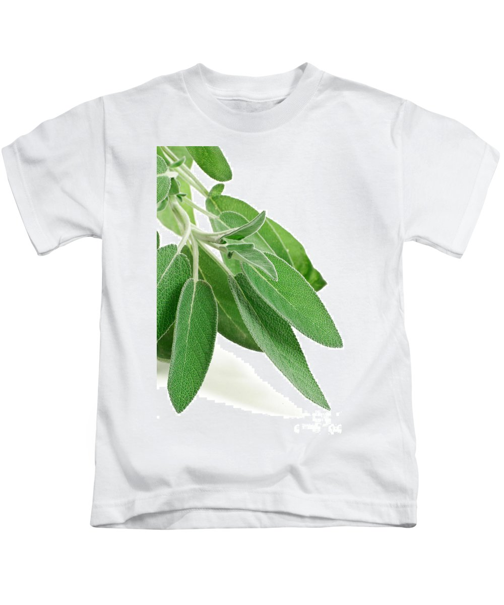 Aromatic Kids T-Shirt featuring the photograph Fresh Sage by Antonio Scarpi