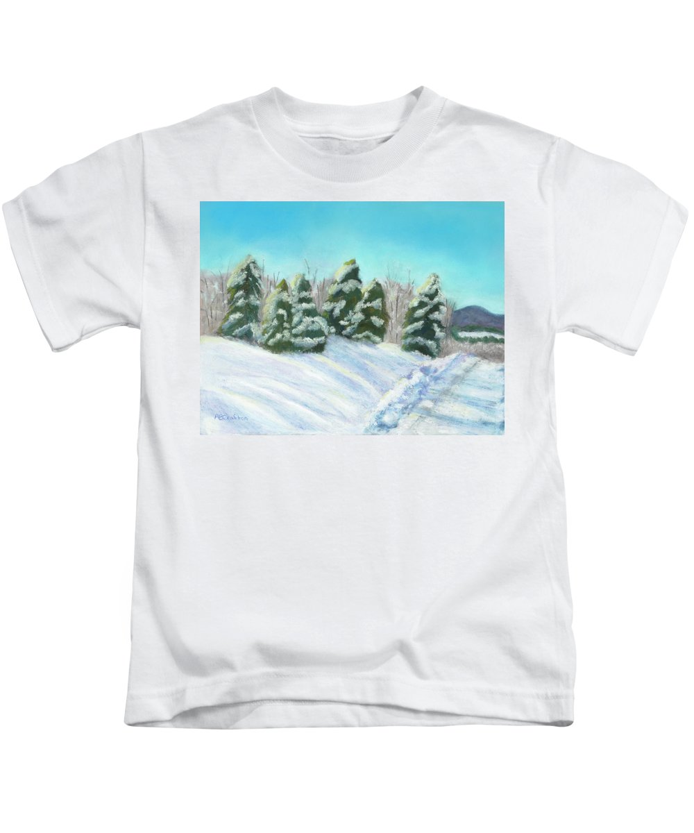 Snow Kids T-Shirt featuring the painting Frozen Sunshine by Arlene Crafton