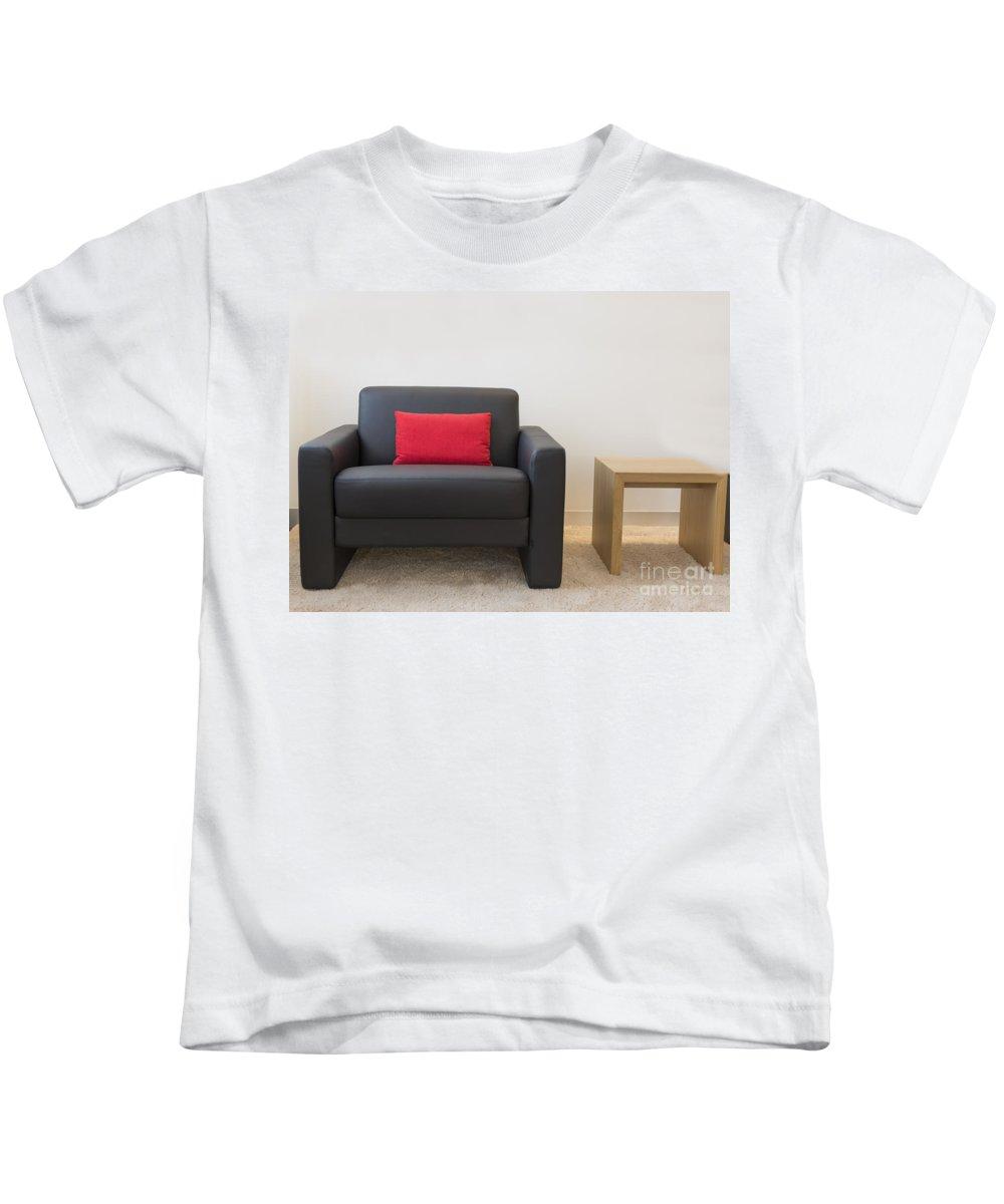 Armchair Kids T-Shirt featuring the photograph Furniture by Mats Silvan