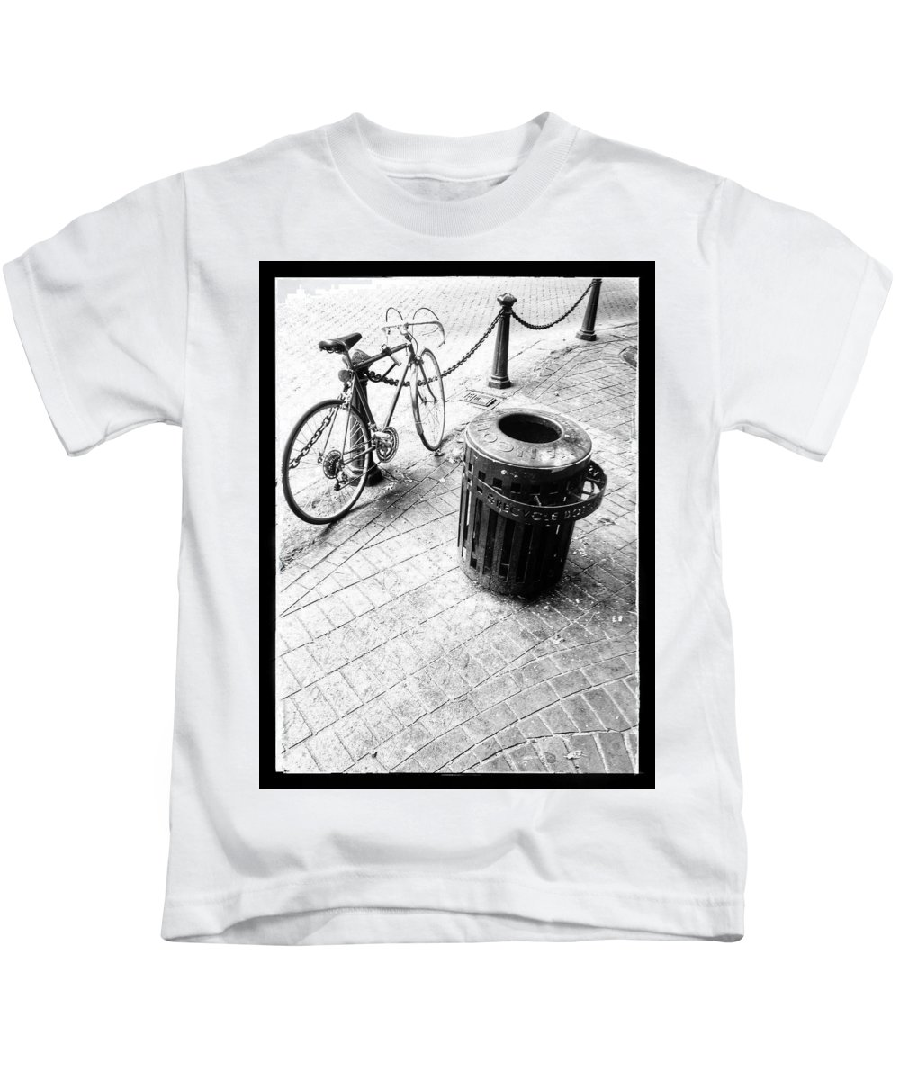 Garbage Kids T-Shirt featuring the photograph Garbage Bike by The Artist Project