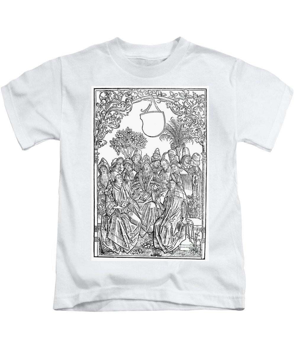1485 Kids T-Shirt featuring the photograph Gart Der Gesuntheit, 1485 by Granger