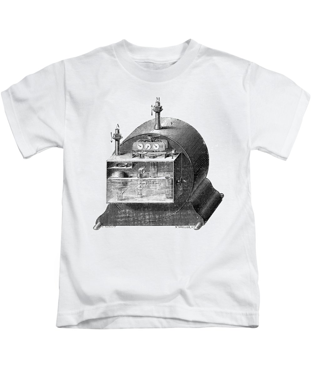 19th Century Kids T-Shirt featuring the photograph Gas Meter by Granger