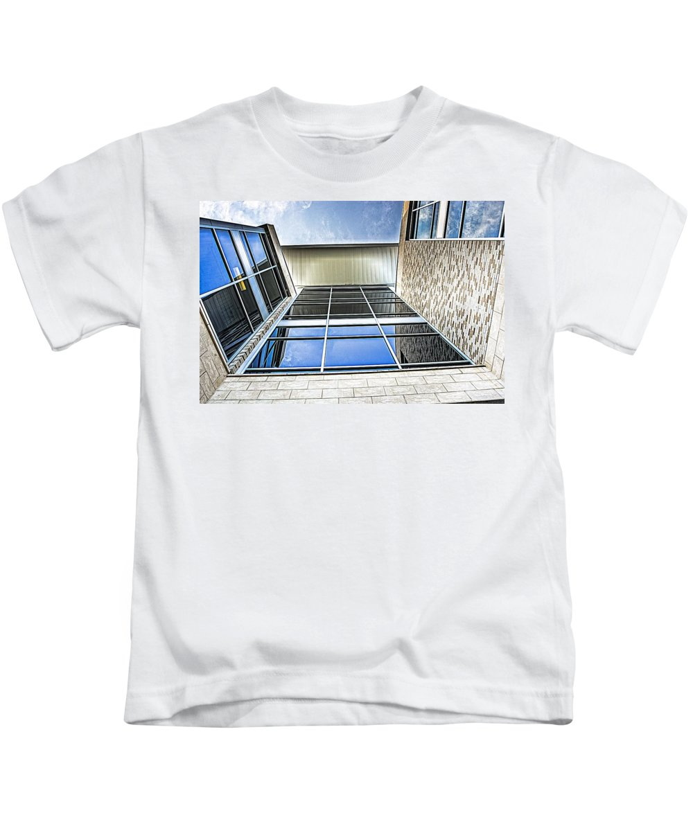Uwf Kids T-Shirt featuring the photograph Glass Reflections by Jon Cody